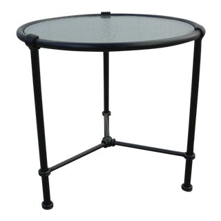 Brown Jordan Wrought Iron Florentine Side Table