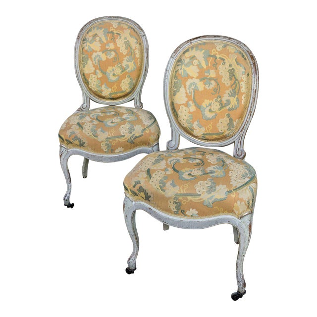 Pair of Louis XV Style Side Chairs For Sale