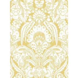 Cole & Son Chatterton Wallpaper Roll - French Yellow And Ivory For Sale