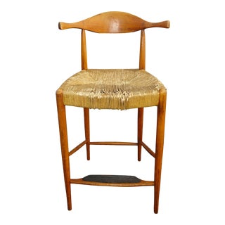 Vintage Mid Century Modern Rush Bar Stool Barstool French Country For Sale