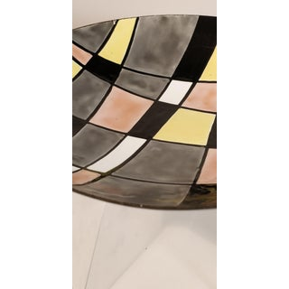 Vintage Mid Century Abstract Geometric Enamel Color Block Bowl Dish Preview
