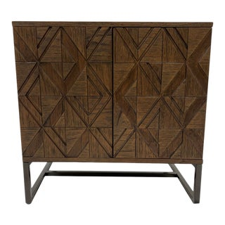 Nadia Diamond Patterned Nightstand For Sale