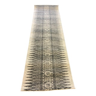 Black & White Tribal Print Runner - 2″ × 7′