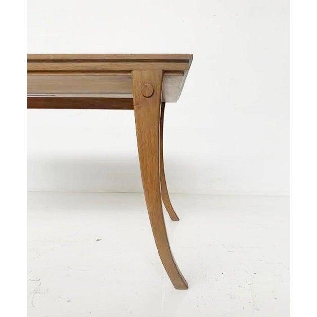 Mid-Century Modern Tripod Coffee Table by t.h. Robsjohn-Gibbings Klismos for Saridis - Greece 1960 For Sale - Image 3 of 5