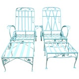 Image of Vintage Salterini Pair Chaise Lounges For Sale