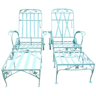 Vintage Salterini Pair Chaise Lounges For Sale