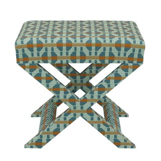 X Bench in Teal Geo For Sale