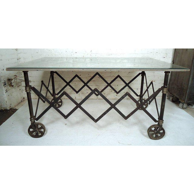 Vintage Industrial Accordion Table For Sale - Image 11 of 11