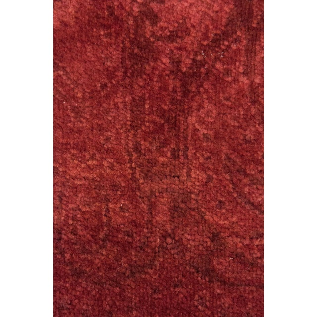 "Contemporary Red Overdyed Hand Knotted Area Rug - 9'1"" X 12'1"" For Sale - Image 3 of 4"