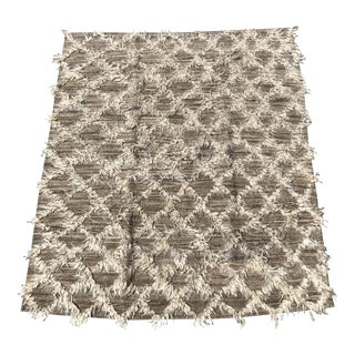 Jillian Cook and Design Hand-Knotted Wool Rug With Alpaca For Sale