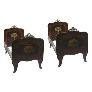 Italian Tole Beds - A Pair For Sale