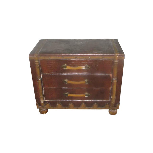 Asian Campaign Style Cabinet For Sale