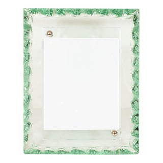 Vintage Green Murano Glass Picture Frame For Sale