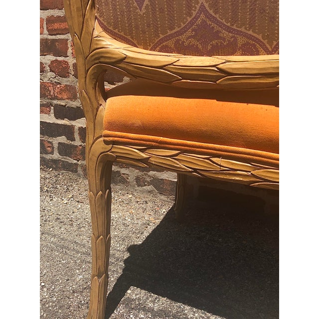 Carved Palm Beach Style Dining Side Chairs- a Pair For Sale - Image 4 of 13