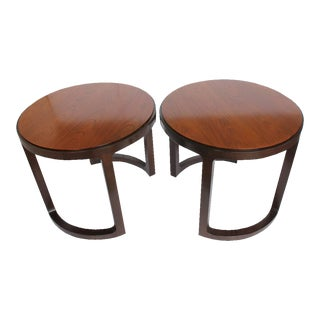 1960's Vintage Edward Wormley for Dunbar Side Tables- A Pair For Sale