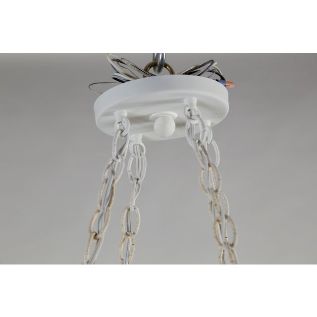 White Mammoth White Plaster Shell Pendant For Sale - Image 8 of 9