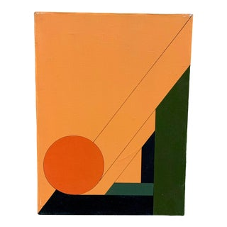 1970s Hard Edge Geometric Painting For Sale