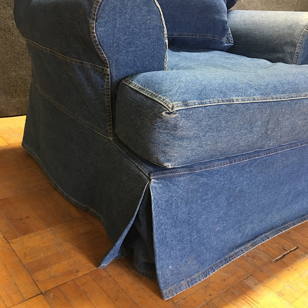 Merveilleux Robb U0026 Stucky Denim Sofa Chairs   A Pair   Image 9 Of 11