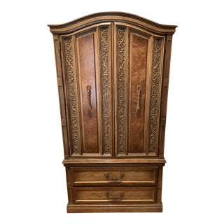 20th Century Italian Walnut Armoire For Sale