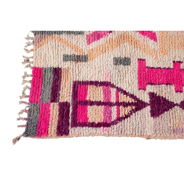1960s Vintage Azilal Moroccan Wool Rug For Sale - Image 5 of 12