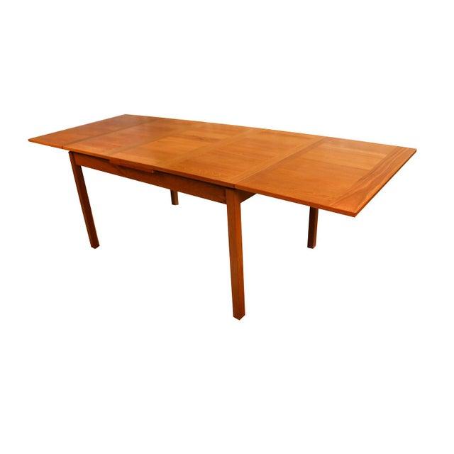 Teak Danish Modern Teak Extendable Dining Table Vejle Stole Møbelfabrik For Sale - Image 7 of 11