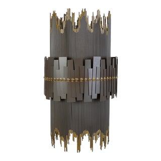 Brutalist Metal Pendant Lamp For Sale