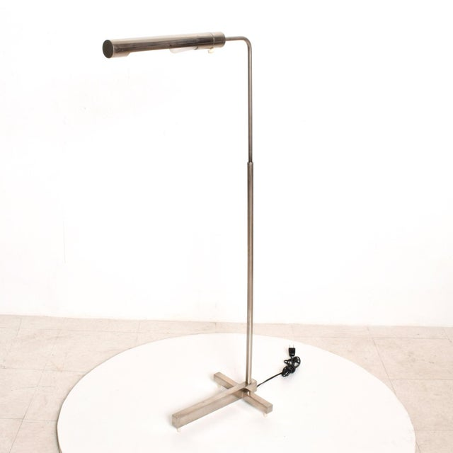 Metal Mid-Century Modern Nickel Plated Task Reading Pharmacy Lamp by Casella For Sale - Image 7 of 11
