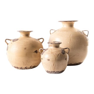 Italian Pottery Vessels - Set of 3