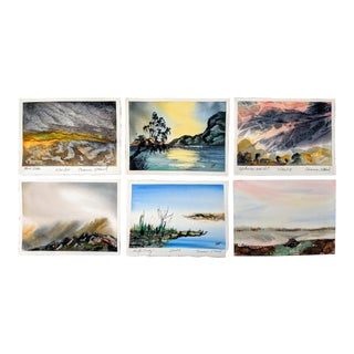 Signed Original Watercolor Paintings, Set Of For Sale