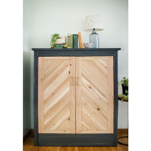 Antique Letterpress Cedar Cabinet - Image 11 of 11
