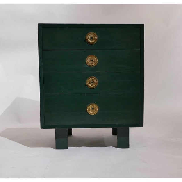 Asian George Nelson for Herman Miller Green Lacquer Pier Chests or Dressers - a Pair For Sale - Image 3 of 8