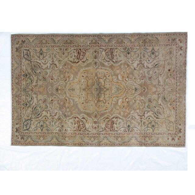 Textile 1950s Vintage Persian Tabriz Rug - 6′6″ × 9′10″ For Sale - Image 7 of 10