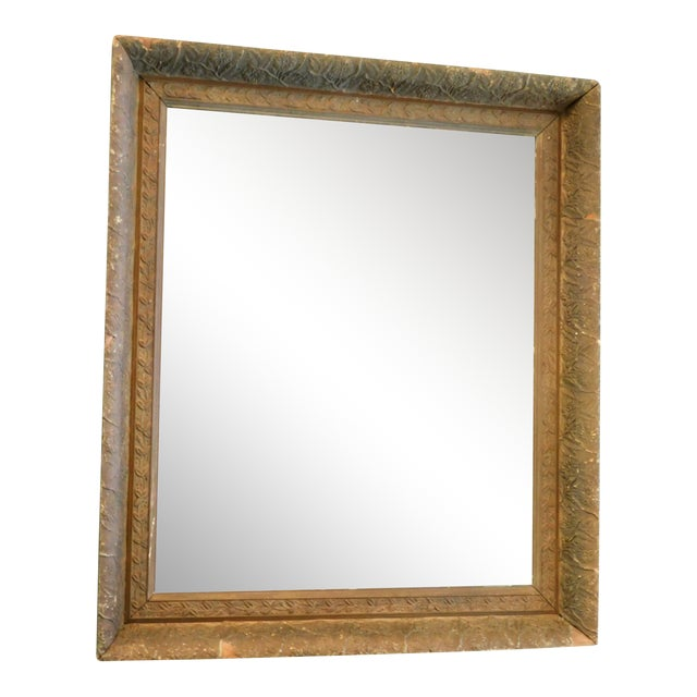 Antique Chippy Wall Mirror For Sale