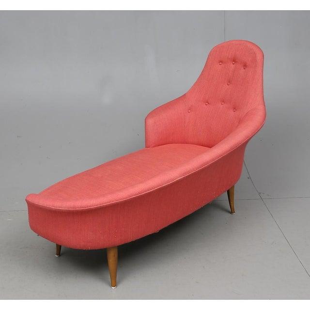 "Nordiska Kompaniet 1960s Vintage Kerstin Hörlin-Holmquist ""Lustgården,"" Nordiska Kompaniet Chaise For Sale - Image 4 of 5"