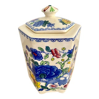 19th Century Mason's Ironstone Covered Jar For Sale