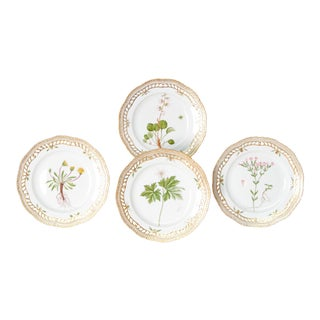 Royal Copenhagen Flora Danica Pierced Plates #20/3554 For Sale