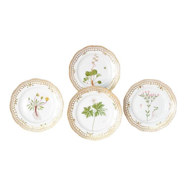 Royal Copenhagen Flora Danica Pierced Plates #20/3554 For Sale