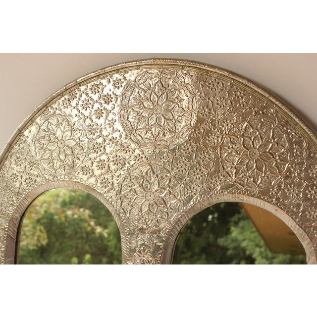 Indian Silver Repoussé Mirror - Image 2 of 6