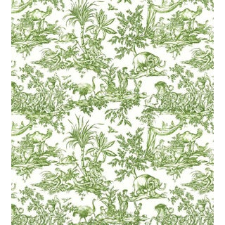 Antilles Toile Wallpaper by Anna French - Price Per Yard For Sale