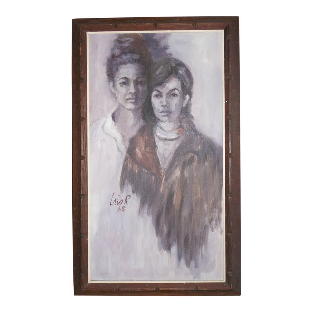 1965 Portrait of Two Women For Sale