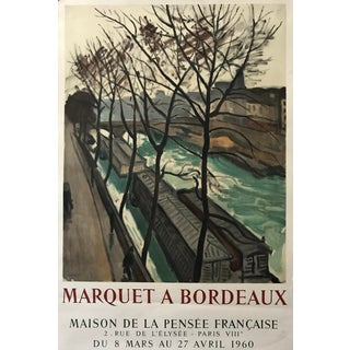 1960 French Exhibition Poster, Marquet a Bordeaux For Sale