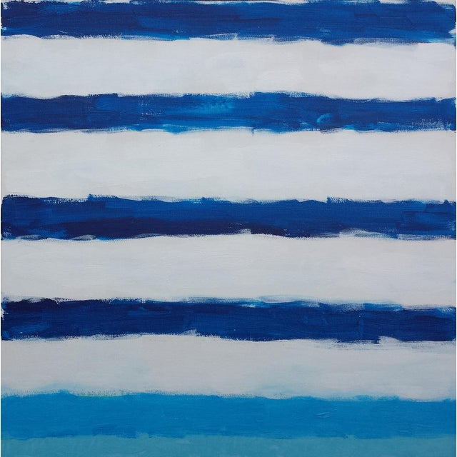"""Susie Kate """"Morning Sail #3"""" Original Abstract Painting - Image 1 of 2"""