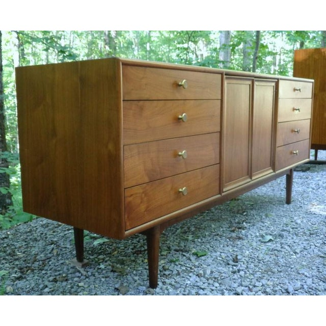 Kipp Stewart For Drexel Declaration Walnut Credenza Long Chest - Image 3 of 11