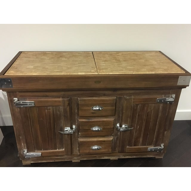 Country Williams Sonoma French Farmhouse Kitchen Island For Sale - Image 3 of 9