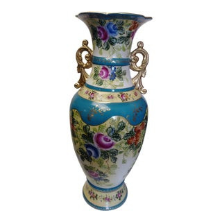 1920's Richard Klemm Dreseden Large Hand Painted Vase