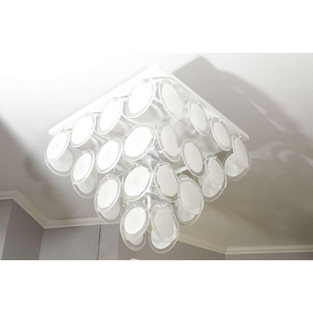 Custom White Murano Disc Fixture For Sale In New York - Image 6 of 6