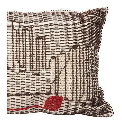 "Boho Chic Schumacher Artigianale Italian Handwoven Cactus Red 47"" Oversized Floor Pillow For Sale - Image 3 of 4"