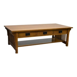 Crafters and Weavers Mission Crofter Style 6 Drawer Coffee Table For Sale
