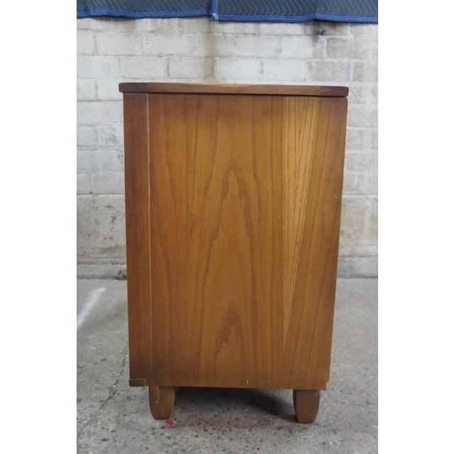 Wood Vitnage 1970s Brandt Ranch Oak Commode For Sale - Image 7 of 10