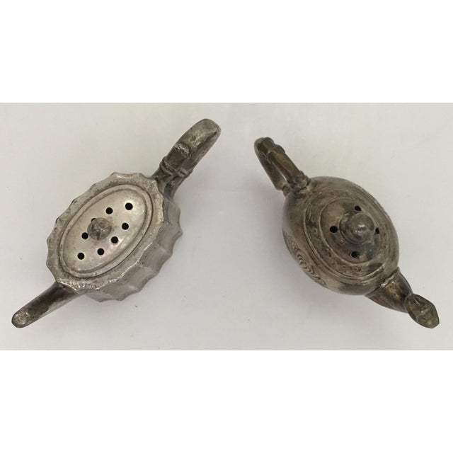 American Teapot Salt & Pepper Shakers For Sale - Image 3 of 4